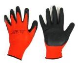Перчатки нейлон анти-порез рефл. красно-черные (12/840)