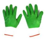Перчатки нейлон анти-порез зеленые полный облив (600/12)