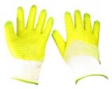 Перчатки нейлон полный облив зеленые (12/600)