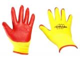 Перчатки нейлон нитрил облив (желто-красн, фиолет) (600/12)