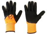 Перчатки нейлон анти-порез рефл. оранж.-черные (12/720)